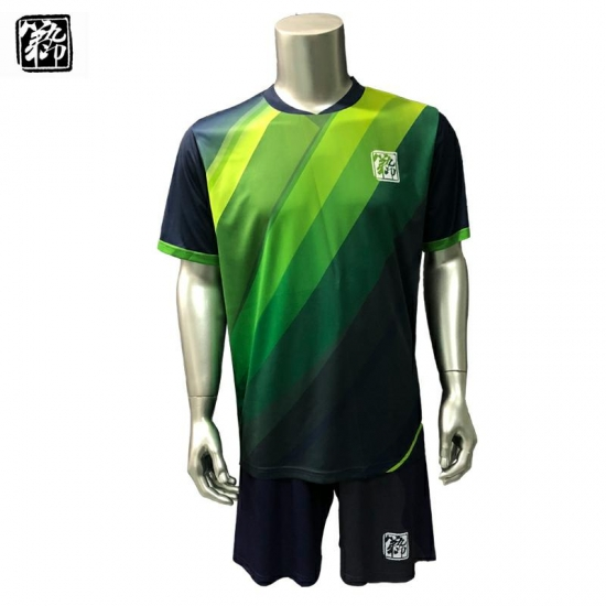 67c0f33d8 Navy   Green Dye sublimated Soccer kits football uniform
